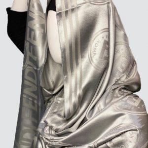 PnL Grey Silky Cashmere Scarf