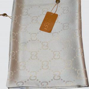 Grey Shimmer Silk Scarf