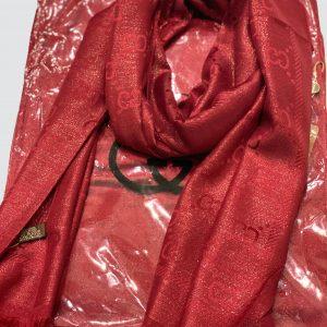 Maroon Shimmer Silk Scarf