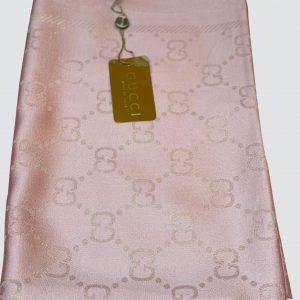 Peach Pink Shimmer Silk Scarf