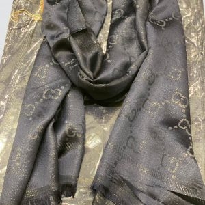 Ash Grey Shimmer Silk Scarf