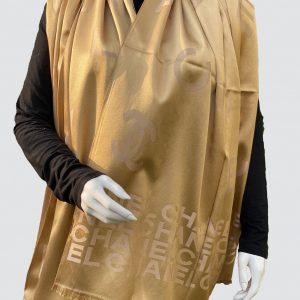 Golden Satin Silk Scarf
