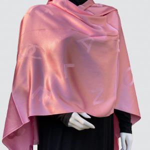 Pink Satin Silk Scarf