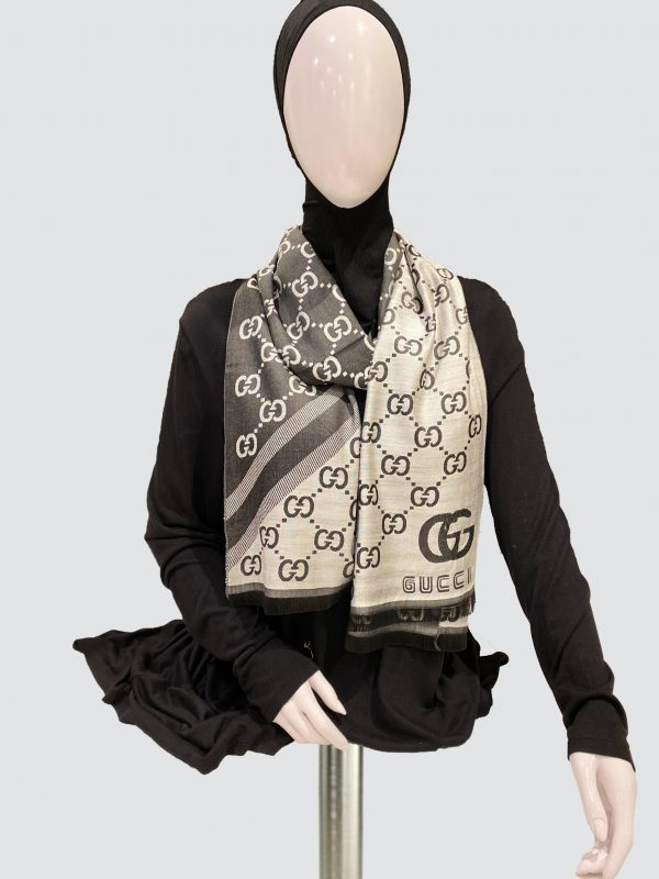 Gucci double scarf