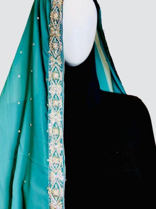 sea blue shawl