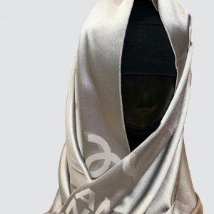 Grey Satin Silk Scarf