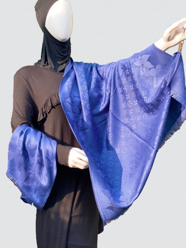 Cobalt Blue PnL Woolen Scarf