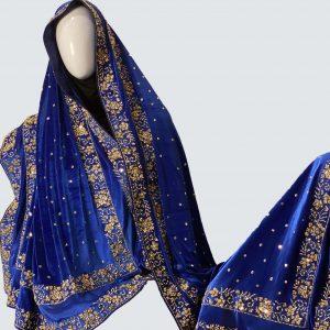 Sapphire velvet shawls